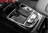 BJMYCYY Stainless steel decoration frame for automotive panel for Audi A6L A7 2012 2018