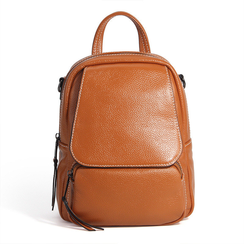 Nesitu High Quality New Fashion Blue Brown Black Grey Red Genuine Leather Small Women Backpacks For Girl Shoulder Bags #M1906