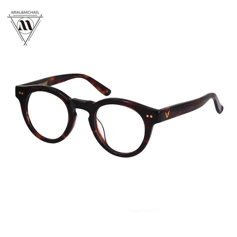 2017 New Fashion Vintage Round Frame Glasses Frame Men Women Myopia Eyeglasses Classic Fashion