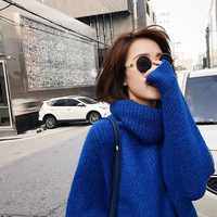 2018 Direct Selling Long Warm Winter Sweater Women Knitted Pullover Female Jumper Tricot Turtleneck Women's Tops Pull Femme