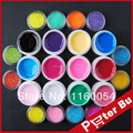 New 12 Color SOLID PURE UV GEL Builder + 12 colors nail fine glitter GLITTER NAIL ART Polish UV KIT Set Tips Kit Acrylic 436