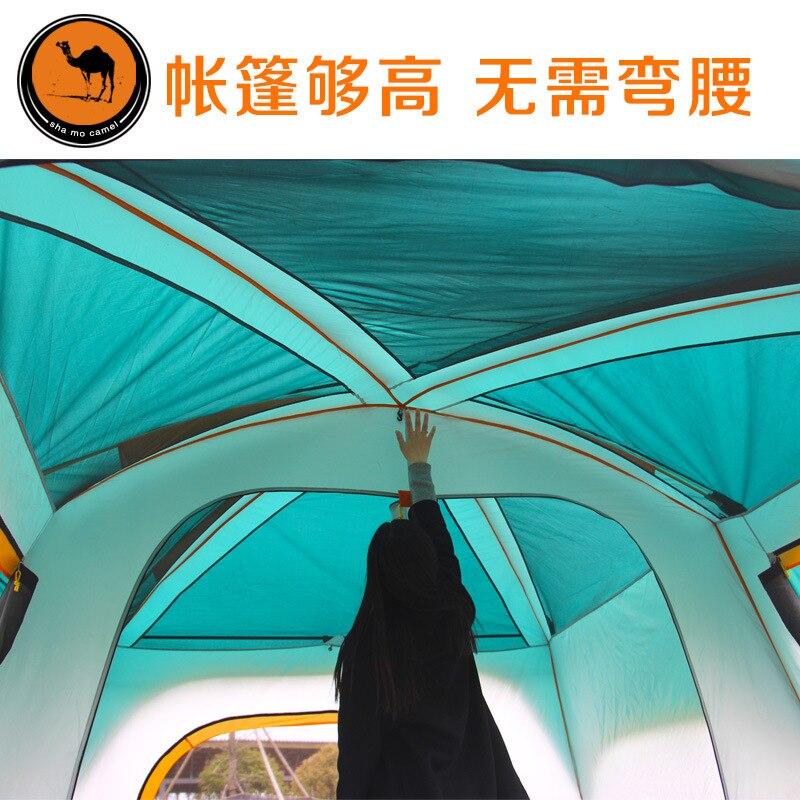 Ultralarge 8-12 osobowy dwuwarstwowy wysokiej jakości jeden hall dwie sypialnie super silny wodoodporny wiatroszczelny namiot kempingowy