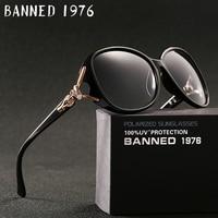 BANNED 1976 Luxury Women Polarized Fashion Sunglasses New Uv Protection Fox Feminin Sun Glasses Vintage With