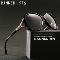 BANNED 1976 Luxury Women Polarized Fashion Sunglasses New Uv Protection Fox Feminin Sun Glasses Vintage With