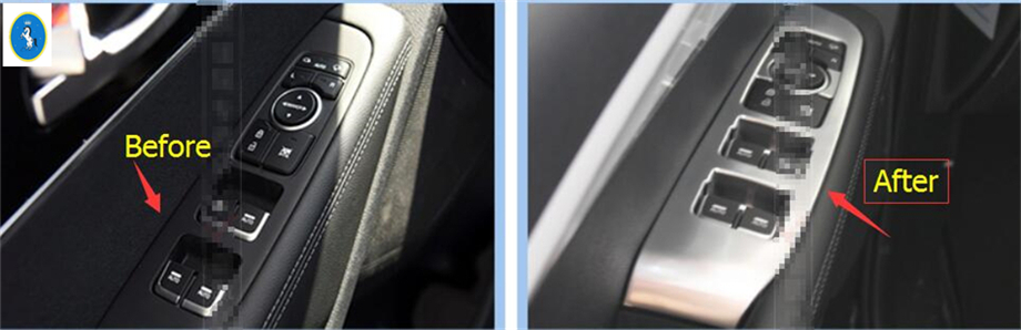 New Style For KIA Sorento L 2015 2016 2017 ABS Window Lift Switch Button Cover Trim 4 Pcs / 2 Model For Choice !