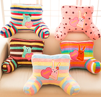 Candice guo plush toy stuffed doll cartoon bear teddy rabbit bunny waist pillow office nap rest cushion birthday gift