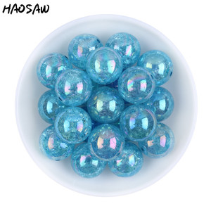 Image 4 - 20MM 100Pcs/Lot Fashion Choose Color Gumball Bubblegum Acrylic Clear AB Crack Beads Colorful Chunky Beads For Necklaces Jewelry