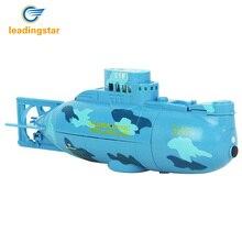 LeadingStar радиоуправляемая водная лодка 6CH скоростная лодка модель с высокой мощностью 3,7 в игрушечная лодка пластиковая модель большая радиоуправляемая подводная лодка уличные игрушки