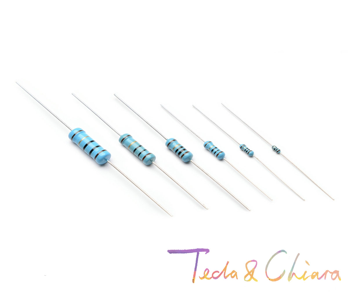 100Pcs 9.1R 10R 12R 15R 9.1Ohm 10Ohm 12Ohm 15Ohm 9.1 10 12 15 R Ohm 1W 1% Metal Film Resistor Colored ring Resistance