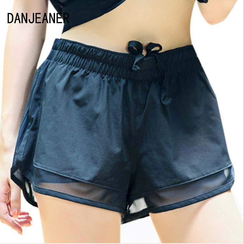 Danjeaner Quick Dry Casual Shorts Women Mesh Double Layer Short Shorts Female Fitness Ladies Hot Beach Workout Joggings Shorts