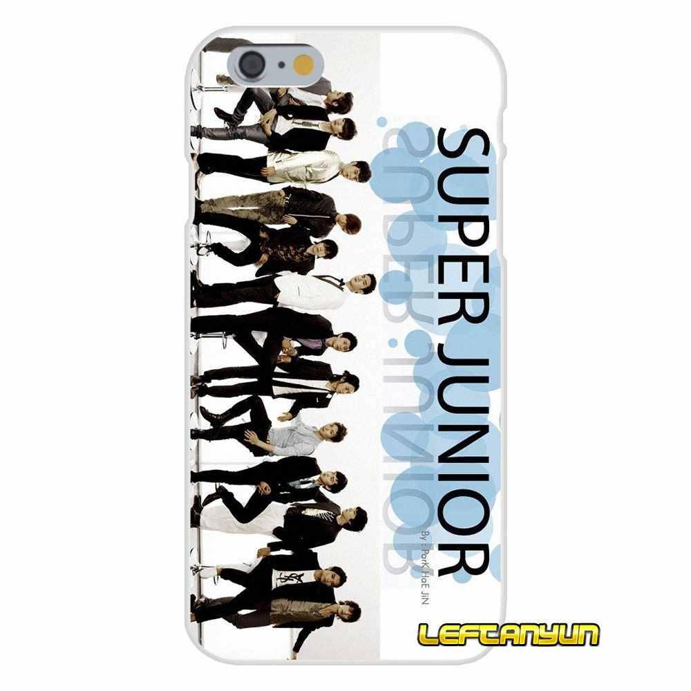 Kpop Super Junior аксессуары телефон чехлы для samsung Galaxy S3 S4 S5 мини S6 S7 край S8 S9 плюс Примечание 2 3 4 5 8