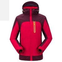 Осень Зима ветрозащитный водонепроницаемый альпинизм одежда флисовое пальто теплая Уличная Мужчины Женщины три в одном из двух частей кур