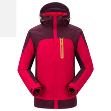 цены Autumn winter windproof waterproof mountaineering clothing fleece jacket outdoor warm men women three-in-one two-piece jacket