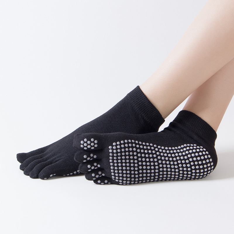 Professional Women Men Yoga Socks Cotton Non-slip Five Toe Fitness Sports Socks Pilates Ankle Grip Durable Warm Exercise Sock