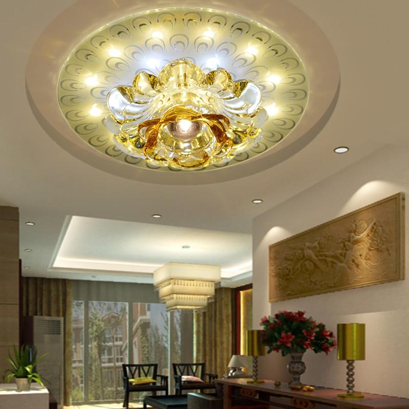 13W moderní led stropní světla do obývacího pokoje křišťálové světlo led lampa AC220V AC230V AC240V svítidlo dekorace abajur 20cm