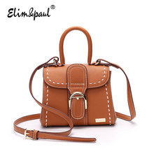 ELIM&PAUL Women Messenger Bags Ladies Retro Tote Bags Vintage Women Leather Handbags Bolsos Crossbody Bags Top-Handle Bags 7198