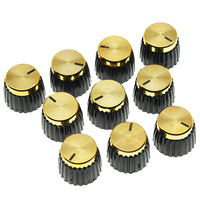 Pack Of 10 Guitar Amplifier Knobs Gold Cap Push On Knob Fits Marshall AMP