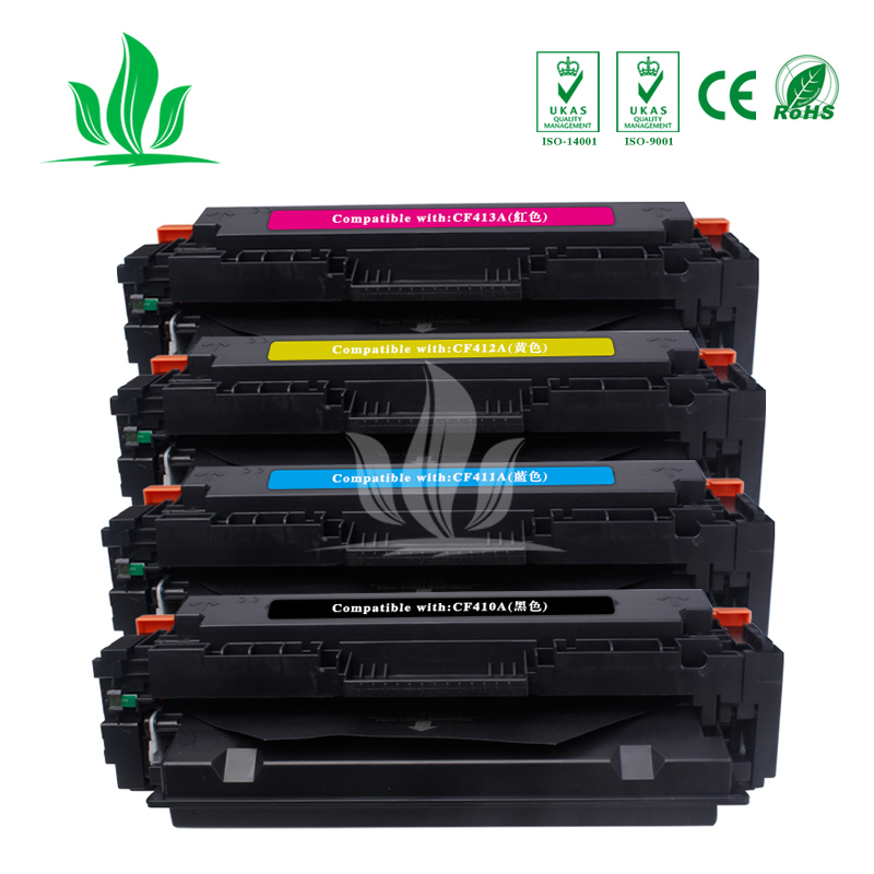 1 Set 4 couleurs 410A CF410A CF411A CF412A CF413A cartouche de Toner Compatible pour HP couleur LaserJet Pro M452dn/M477fdw/M477fnw ZH