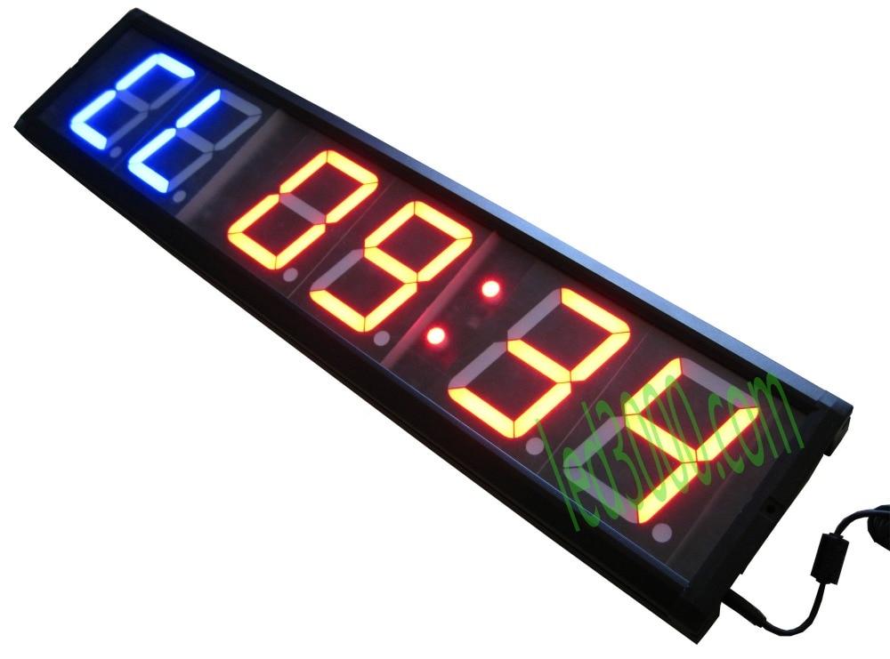 Livraison gratuite 4 pouce GYM Crossfit Minuterie Minuterie D'intervalle LED Temps de Formation Et Le Temps de Repos Alternent CountdownCount Comme Un chronomètre