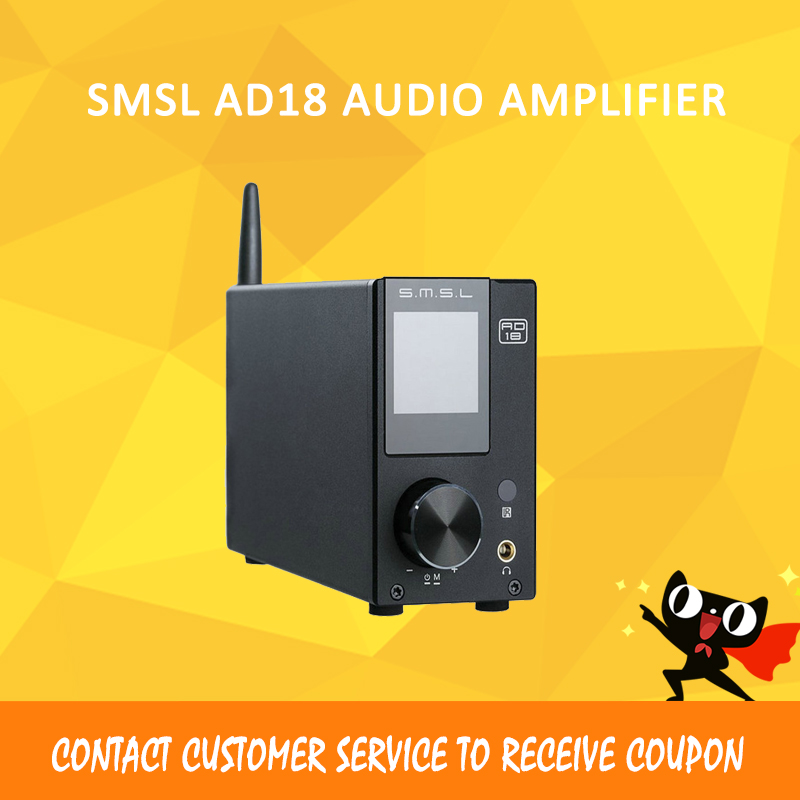 SMSL AD18 80W2 Digital Decoding Power Amplifier Bluetooth 4.2 HIFI USB DSP