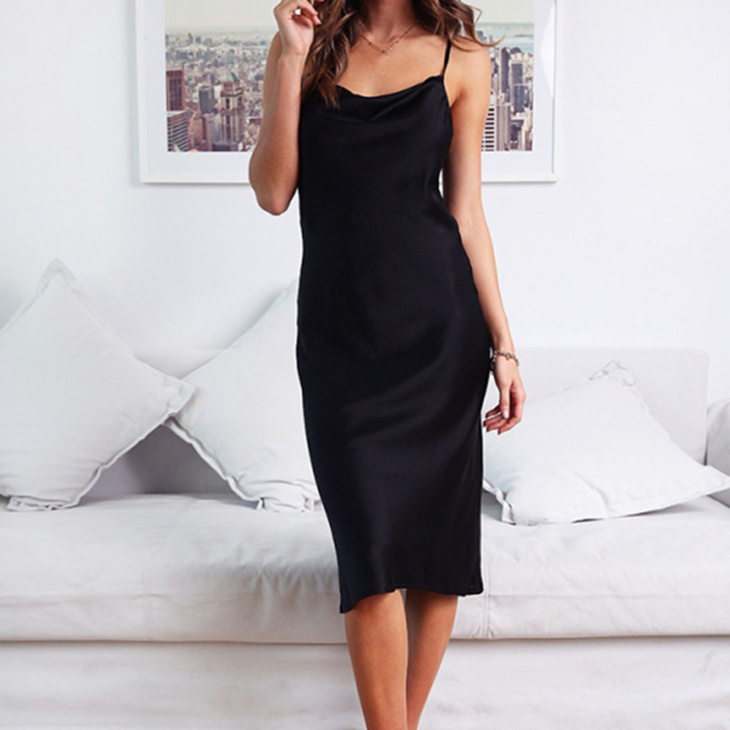 Women Sexy Sleeveless Cold Shoulder Backless Dress Nightdress Party Dress Party Sexy Dress Women Vestidos Verano 20191208 Complete Range Of Articles Women's Clothing