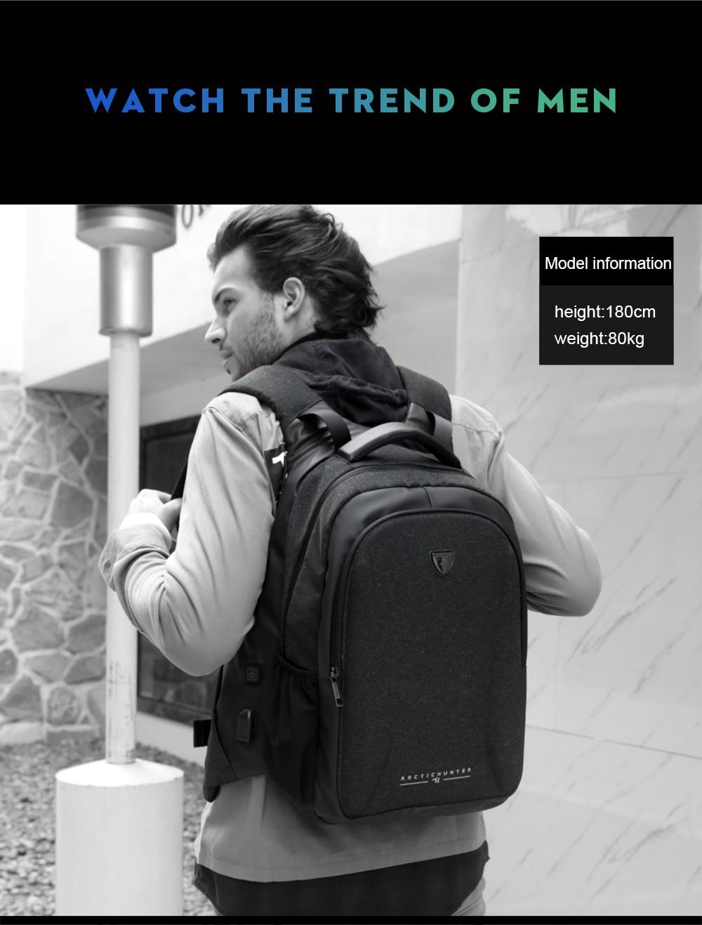 ARCTIC HUNTER Laptop Backpack Male USB ...