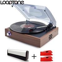 LoopTone Stereo Vinyl LP Record Phono Player Kit Turntable Players 2PCS Sapphire Tipped Ceramic Needles Stylus