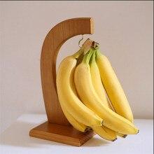 1 шт. творческий бамбука фрукты отображение стойку банан Вешалка винограда держатель Кухня стеллаж для хранения