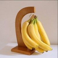 1 pcs Creative Bamboo Fruit Displaying Rack Banana Hanger Grape Holder Kitchen Storage Rack