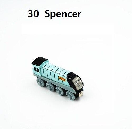 Деревянные магнитные паровозики, игрушки для железной дороги, деревянные паровозики для детей, подарок для детей, модель поезда - Цвет: Красный