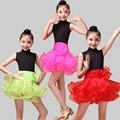 Children Ballet Dance Dress For Girls Cha-Cha Kid Competition Latin Dress Dancing Kids Girl Ballet Dancewear Kid Latin Costume