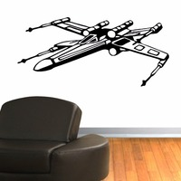 New arrival diy wallpaper STAR WARS X WING FIGHTER vinyl wall art room sticker decal wall mural