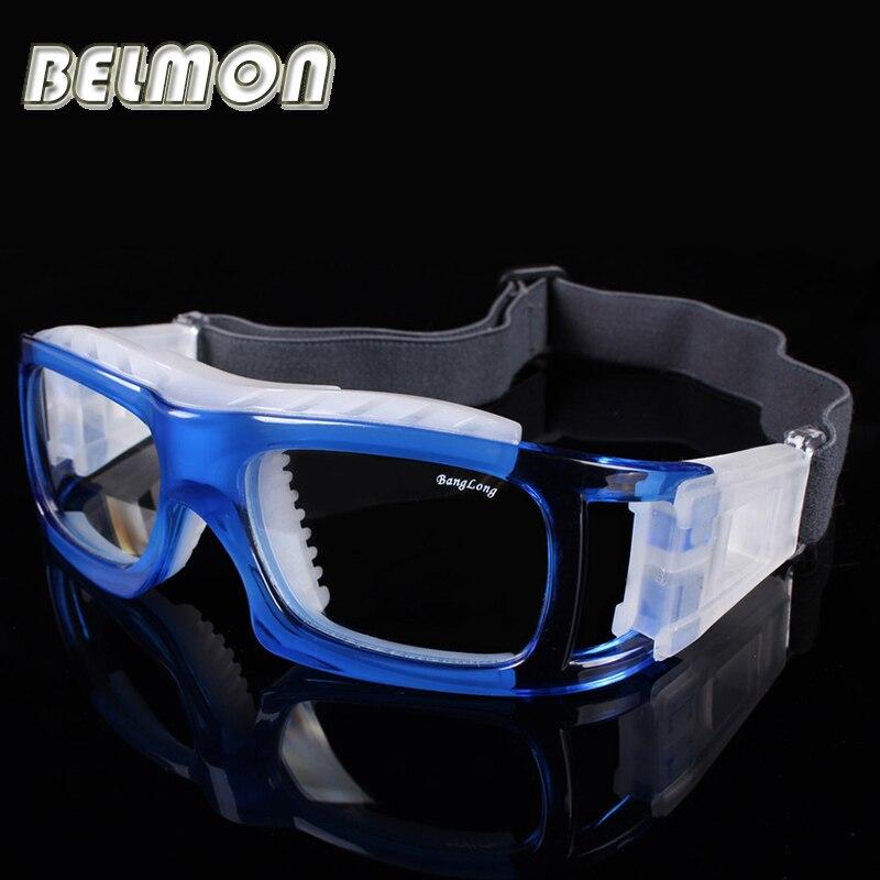 كرة السلة نظارات نظارات إطار الرجال واضح عدسة ماركة تصميم الرياضة نظارات للذكور قصر النظر شكلي عدسة RS161