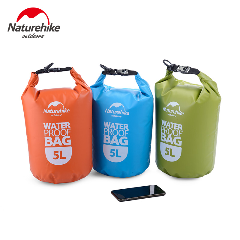 NatureHike 2L 5L Outdoor Waterproof Bags Ultralight Camping Hiking Dry Organizers Drifting Kayaking Swimming Bags NH15S222-D