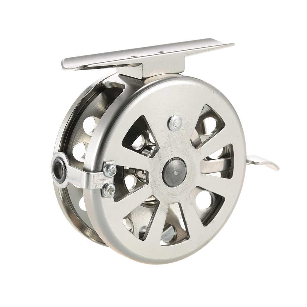 Przeciągnij karpia Fly Fishing Reel kołowrotek Pesca akcesoria wędkarskie szpuli ze stali nierdzewnej praworęcznych ze stopu aluminium ze stopu aluminium Smooth Rock lodu