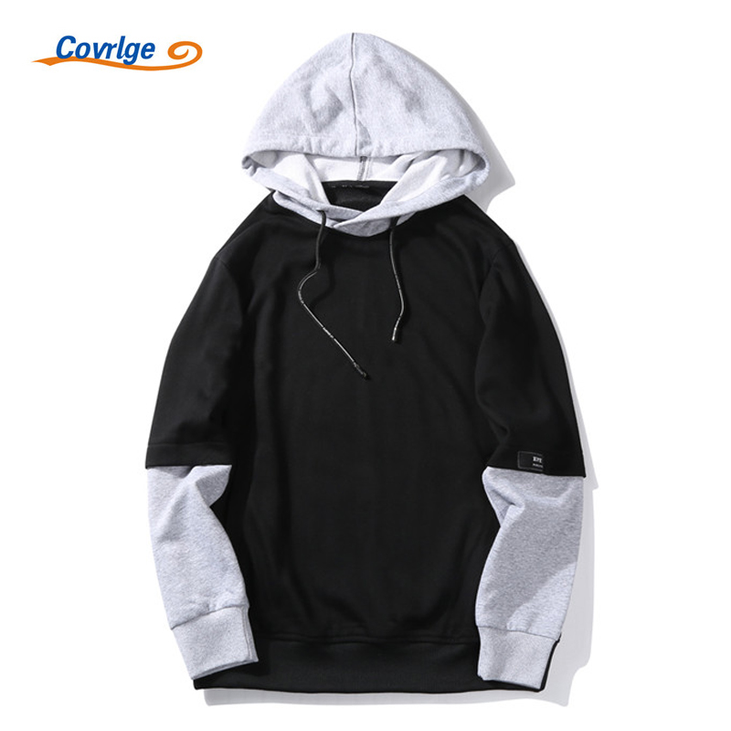 Covrlge Men Sweatshirt 2017 Autumn New Hip Hop Mens Hoodies Fashion Male Pullover Oversized Hoodie Plus Size Tracksuit MWW050