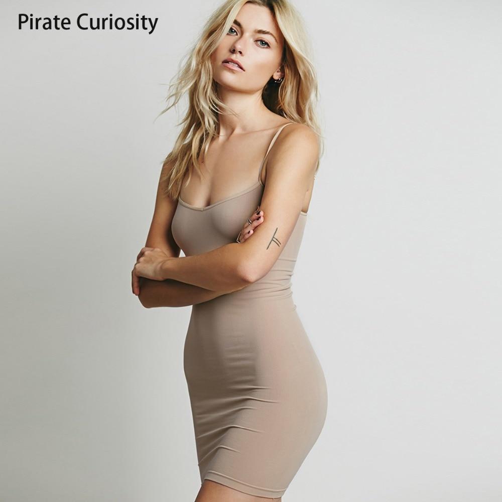 Pirate Curiosity Negligees Elegant Nightgowns Women Sexy Silk Strap Full Slip Dress Mini Cami Slips Underdress Solid Underskirt