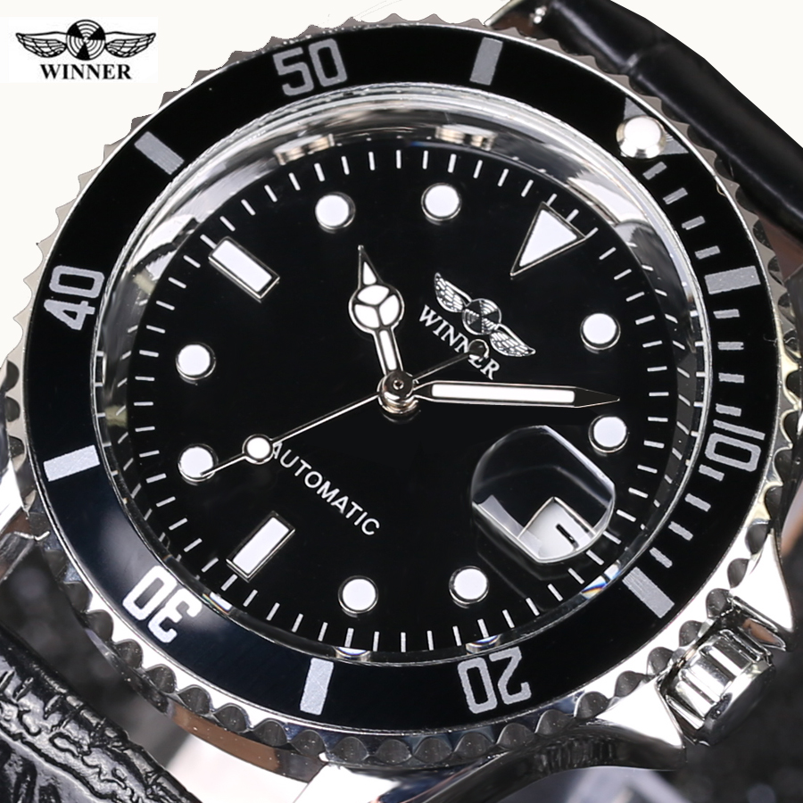 Business Sports Military Stainless Steel Watch Top Luxury Brand WINNER Black Watch Men Casual Male Automatic mechanical Watches winner skeleton mechanical watch luxury men black waterproof fashion casual military brand sports watches relogios masculino