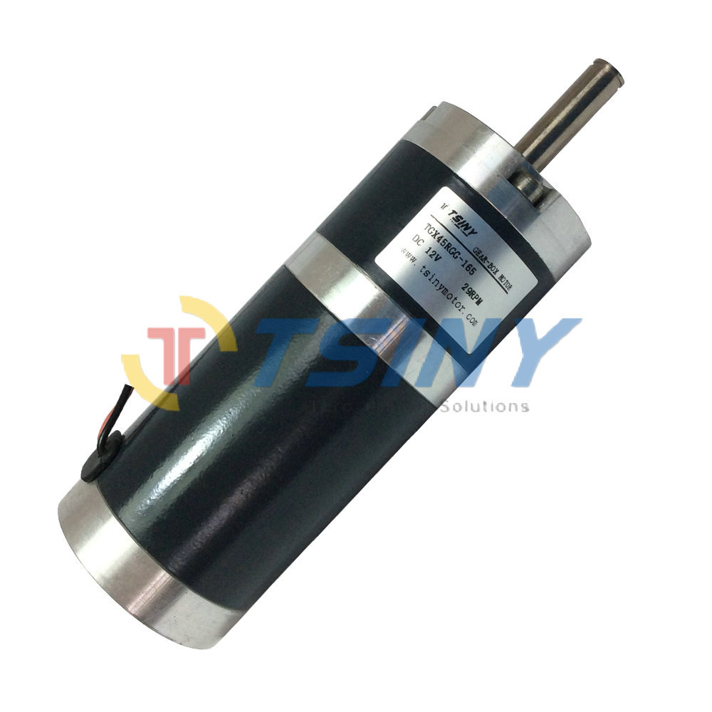 Tgx45 12v 29rpm dc planet geared planetary gear motor free for High torque high speed dc motor