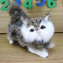 Simulation light gray cat polyethylene&furs cat model funny gift about 12cmx5cmx10cm