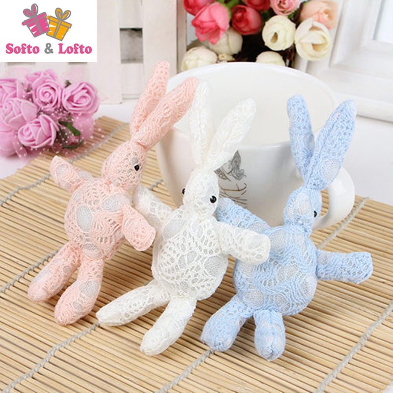 10pcs <font><b>Korea</b></font> lace rabbit dolls,DIY handwork materials bouquet animal <font><b>mobile</b></font> <font><b>phone</b></font> chain key ring,brooch accessory girls lady gift