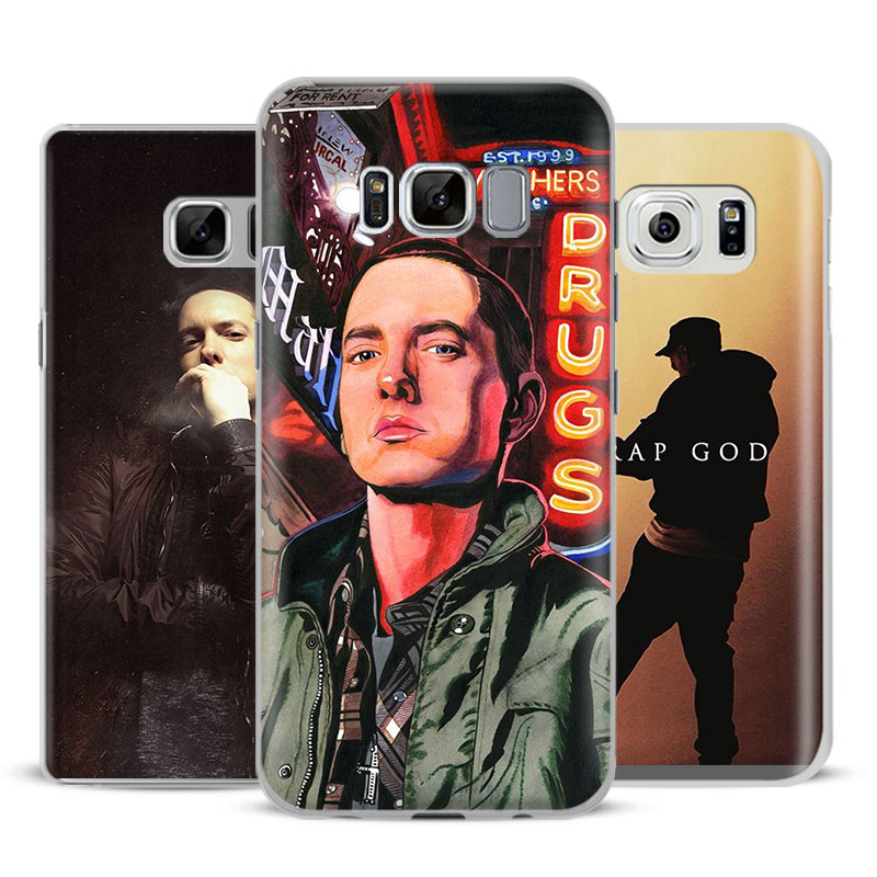 Eminem Fashion Coque Mobile Phone Case Cover Bags For Samsung Galaxy S4 S5 S6 S7 Edge S8 Plus Note 8 2 3 4 5 A5 A710 J5 J7 2017