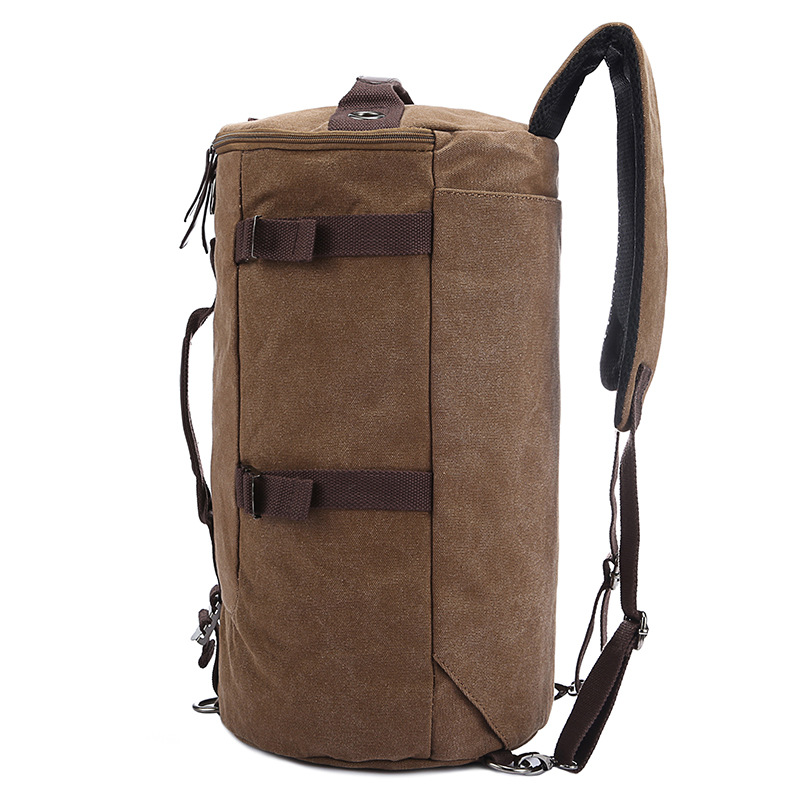 Large Capacity Man Travel Bag Mountaineering Backpack Men Bags Canvas Bucket Shoulder Backpack 012 1