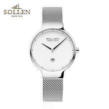 Zegarek Damski Women Watch Luxury Brand Ultra thin stainless steel quartz Watches Women  Fashion Calendar waterproof Wristwatch