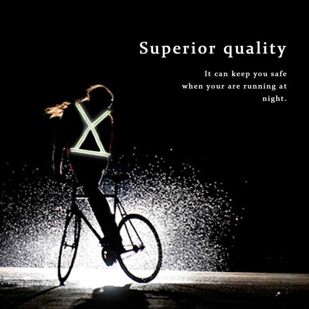 Yüksek görünürlük yansıtıcı güvenlik ceketi nefes trafik gece iş güvenliği koşu bisiklet güvenli yansıtıcı yelek