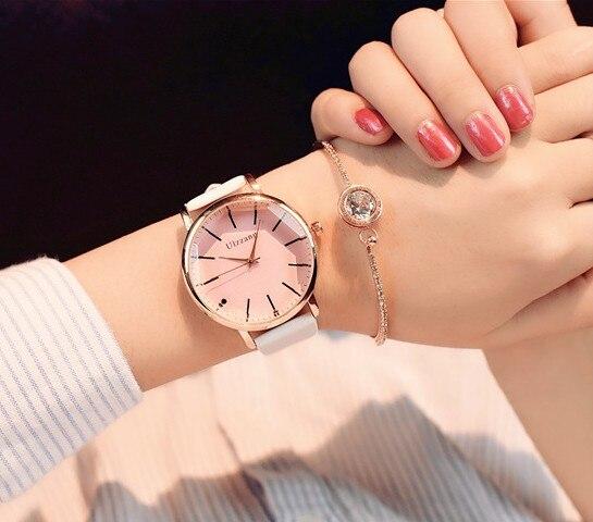 Ulzzang Women Watches Luxury Leather Casual Fashion Brand 2017 Dress Quartz Wristwatches Women Ladies Watch