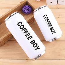 Creative Beverage Cans #Not Vacuum 304 Stainless Steel Straw Thermos Bottle For Water Thermocup