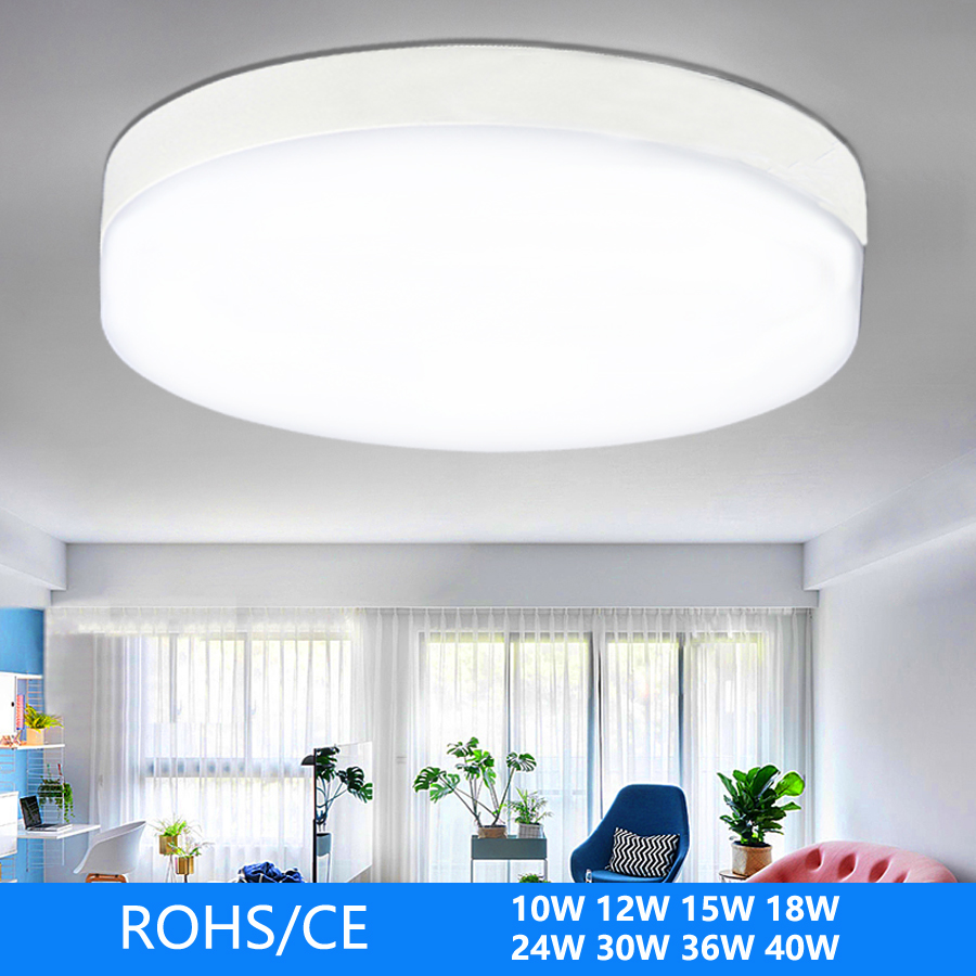 Panel LED Lamp Surface Mounted  10W12W15W18W24W30W36W40W Round Ceiling Lamp Applies To Kitchen Living Room Bedroom Aisle Etc