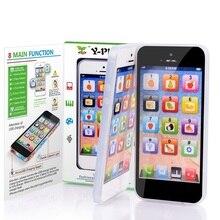 Развивающие игрушки мобильный телефон с светодиодный ребенок Английский Обучение мобильный телефон электронный игрушечный телефон музыкальный телефон