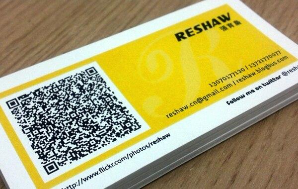 Kundenspezifische Sonder Design Qr Code Visitenkarte Bunte